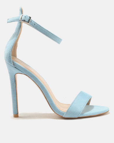 buy cheap for sale clearance shop offer Public Desire Public Desire Angel Barely There Heels Blue cheap outlet locations UhWgqSvW