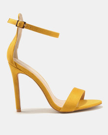 Public Desire Angel Barely There Heels Yellow