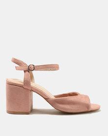 Public Desire Helix Low Heel Sandals Pink