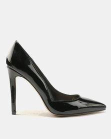Public Desire Sorrenti Point Toe Court Heels Black