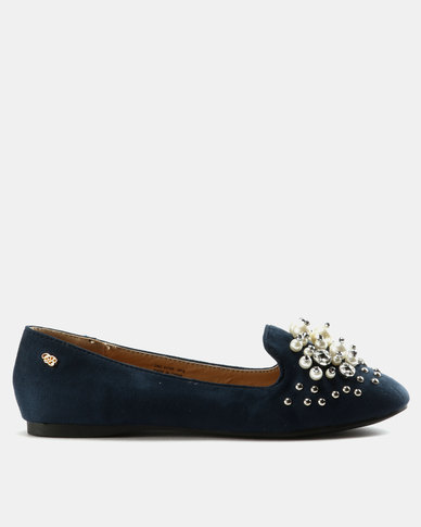 Miss Black Adelaide Flats Navy