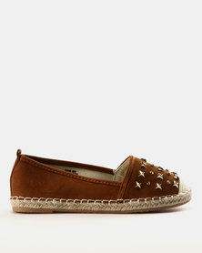Miss Black Chana Slip Ons Tan