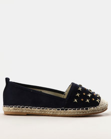 Miss Black Chana Slip Ons Navy