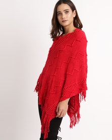 Crave Round Neck Knit Red