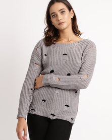 Crave Knitted Jersey Grey