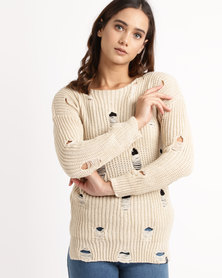 Crave Knitted Jersey Beige