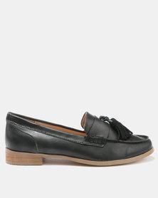 Bata Ladies Casuals Moccasins Black