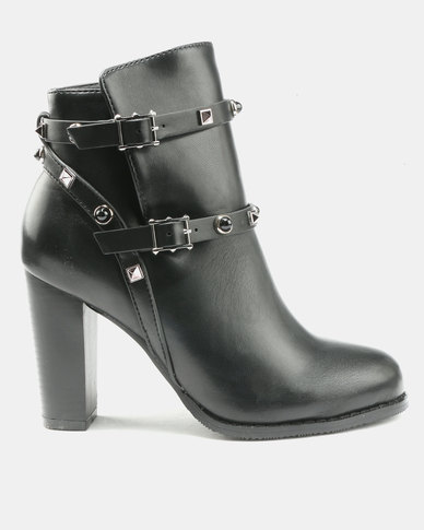 buy cheap with paypal cost online Utopia Utopia PU Stud Boots Black 100% original for sale sale cheapest price low price fee shipping cheap price 7aSmcUOU
