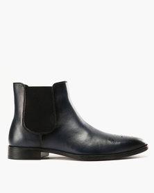 Roberto Morino Sanjo 1 Leather Formal Slip On Boots Navy