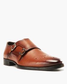 Roberto Morino Sanjo 8 Leather Formal Slip On Shoes Tan