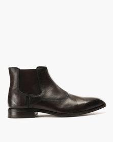 Roberto Morino Mauritzio 3 Leather Formal Slip On Boots Choc