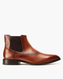 Roberto Morino Mauritzio 3 Leather Formal Slip On Shoes Tan