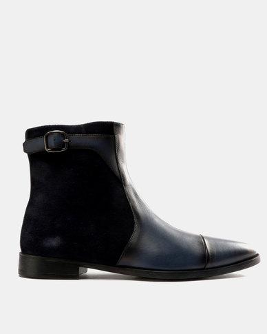 Roberto Morino Roberto Morino Sanjo 3 Leather/Suede Formal Slip On Boots Navy looking for cheap online free shipping Manchester vnPqVUN
