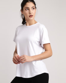 Bfit Active Wear Box Fit Tee White