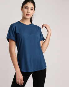 Bfit Active Wear Box Fit Tee Blue