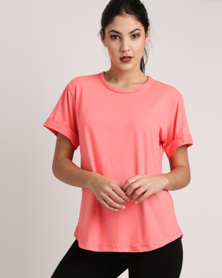 d450fe6f3b87 Bfit Active Wear Box Fit Tee Coral