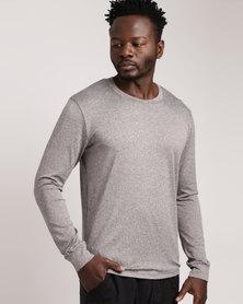 Bfit Active Wear Long Sleeve Tee Grey/ Melange