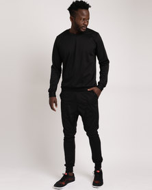 Bfit Active Wear Crew Neck Set Black