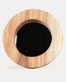Native Decor Medium Round Mirror Brown