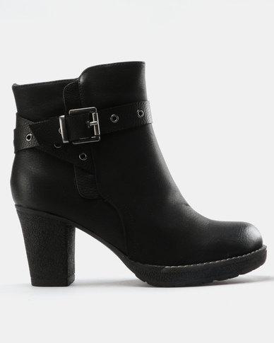 7ac26a3649e1d Franco Ceccato Ankle Boots With Contrast Belt Black | Zando