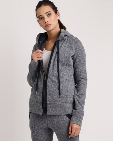 Rip Curl Surf Threads Z/T Hood Charcoal