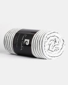 Pierre Cardin Luxury Sherpa Throw Black/White