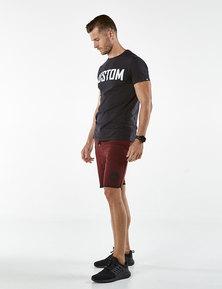 Custom Apparel Fleece Cotton Shorts Burgundy
