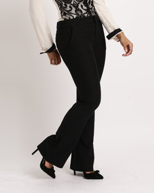 Utopia Ladies Formal Bootleg Trousers Black