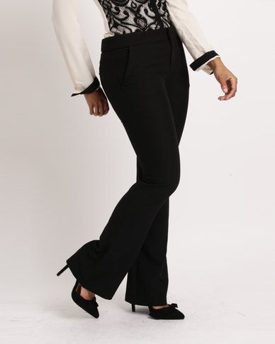 Utopia Ladies Formal Bootleg Trousers Black