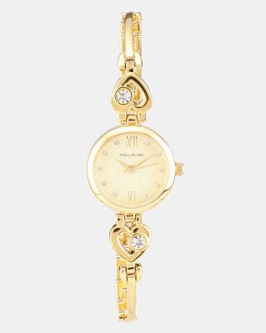 4608217f38f14b Hallmark Heart Necklace and Watch Set Gold-tone   Zando