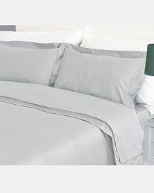 Sheraton Duvet Oxford Straight Stitch Set Steel Grey