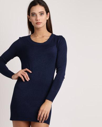 My Style Knitwear Tunic Navy