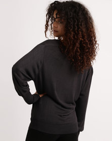 My Style Cowl Neck Knitwear Jumper Charcoal