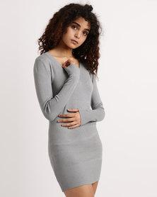 My Style Knitwear Tunic Grey