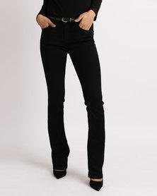 Sissy Boy Axel Mid Rise Bootleg Jeans Black