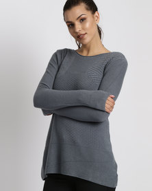G Couture Multi Stitch Design Jumper Blue
