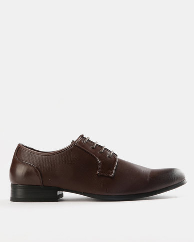Utopia Classic Formal Lace Up Shoes Brown