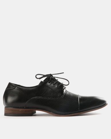 Utopia Utopia Formal Toe Cap Shoes Black