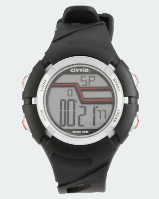Civvio Swift Digital Watch Black/Red
