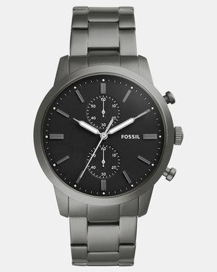 Fossil Mens Bracelet Watch Silver-tone