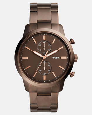 Fossil Mens Classic Bracelet Watch Brown