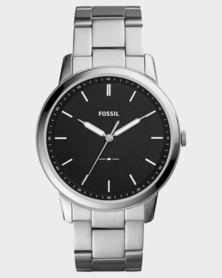 Fossil Mens Classic Bracelet Watch Silver