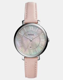 Fossil Ladies Jacqueline Watch with Mother of Pearl Dial Pink