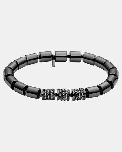 Fossil Stainless Steel Bracelet Gunmetal