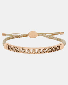 Fossil Classic Adjustable Bracelet Gold-plated