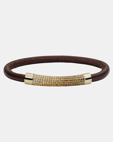 Fossil Glam Leather Bracelet Brown