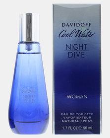 Davidoff Coolwater Female Night Dive Eau De Toilette 50ml (Parallel Import)