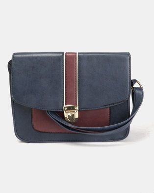 e52307016648e Legit Colour Blocked Satchel Navy