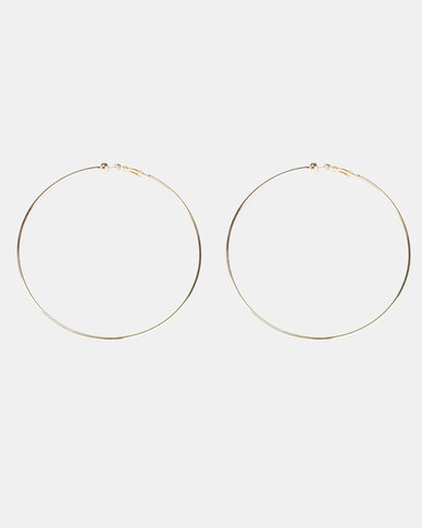 Legit Large Hoop Earrings Gold-tone