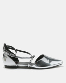 Legit Pointy Dórsay With Cross-over Straps Sliver